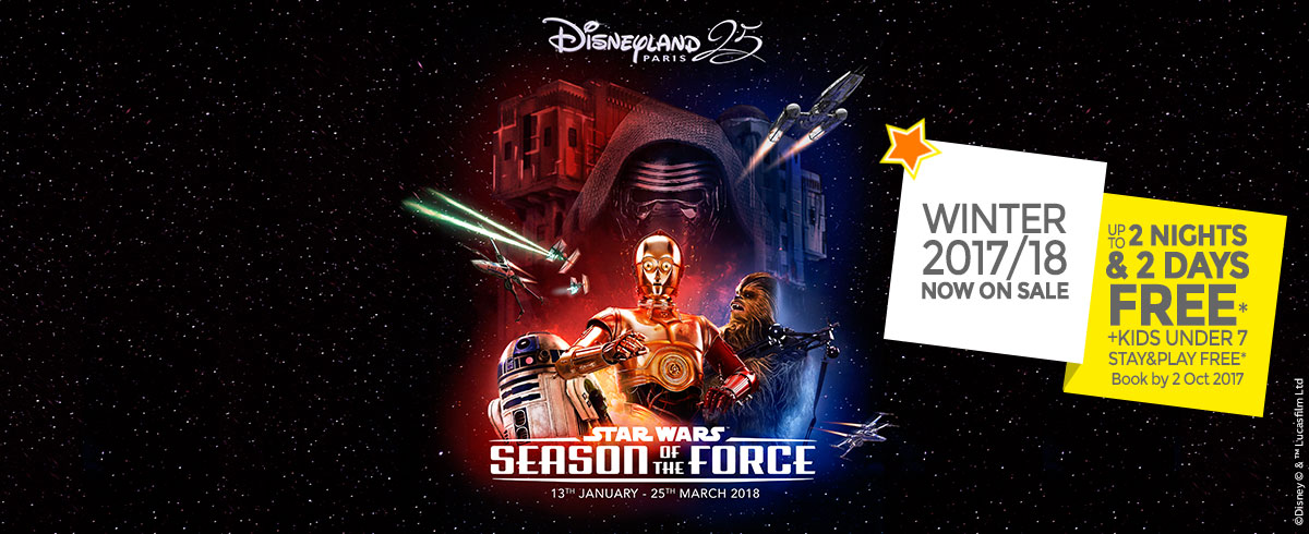Winter 2017/18 on sale, Disneyland Paris